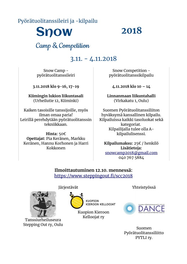 Snow camp et competition tiedote